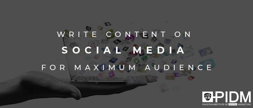 write content for social media