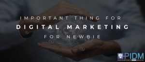 Important things to know of digital marketing for newbie