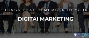 Things you need to remember in your digital marketing interview