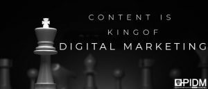 Content is king of digital marketing
