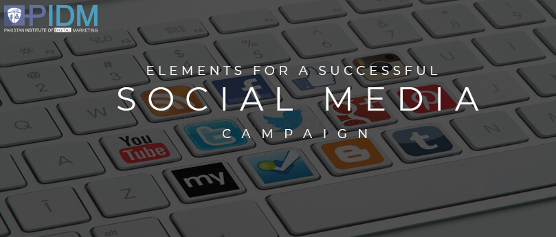 Elements for a successful social media campaign
